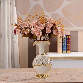 欧式花瓶餐桌摆件创意时尚家装饰品陶瓷客厅酒柜装饰品电视柜插花