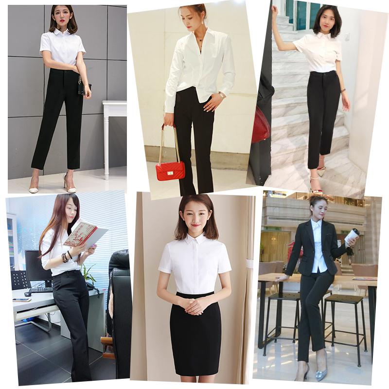 19夏装新款职业套装女正装西装西服商务时尚面试两件套气质工作服