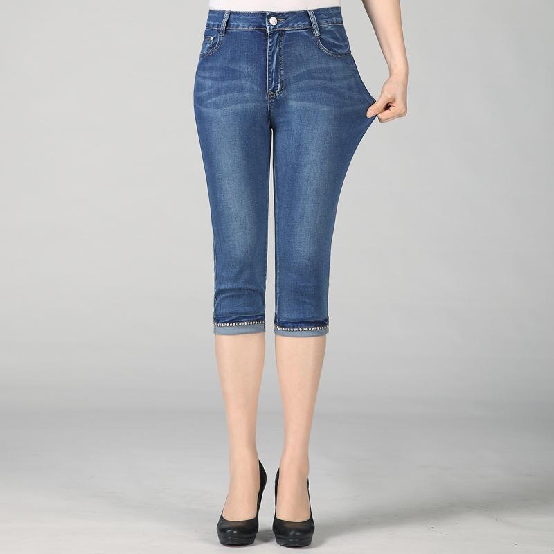 中年人妇女nv下装35多几岁穿nzk牛子仔40裤子45左右50半截节7分库