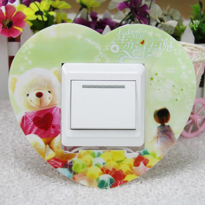 八个包邮开关贴亚克力墙贴插座贴塑料开关套保护套防尘罩欧式韩式