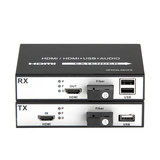 HDMI+USB audio/video optical terminal HDMI fiber transceiver converter fiber extender 1080P1 pair