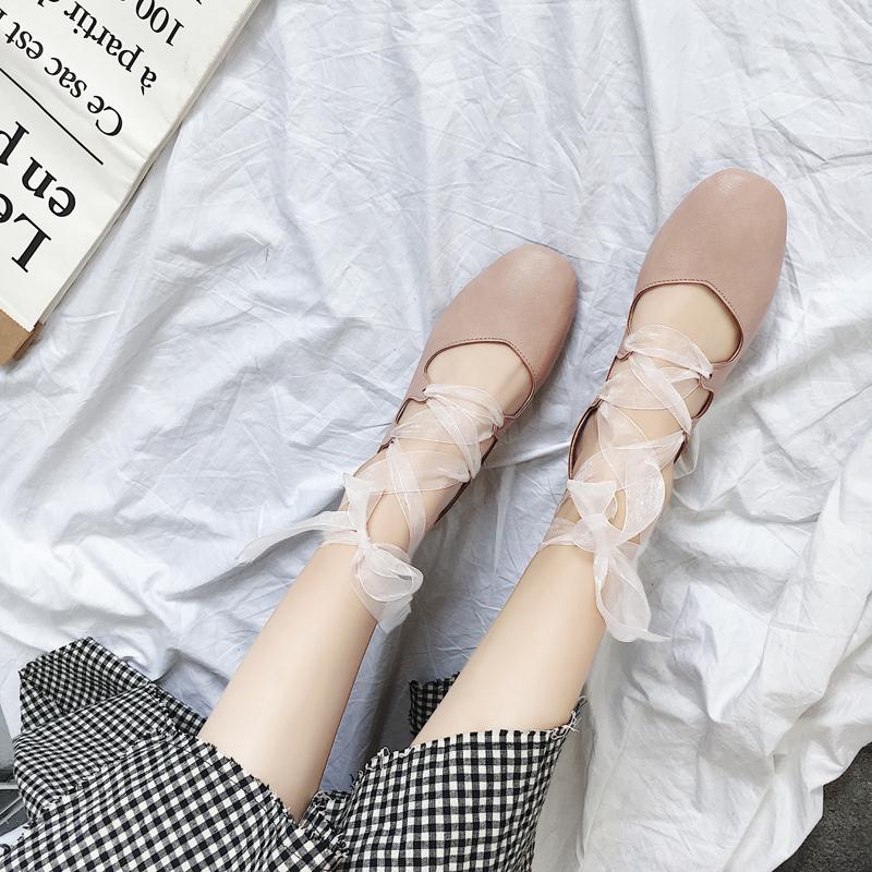 中跟芭蕾单鞋