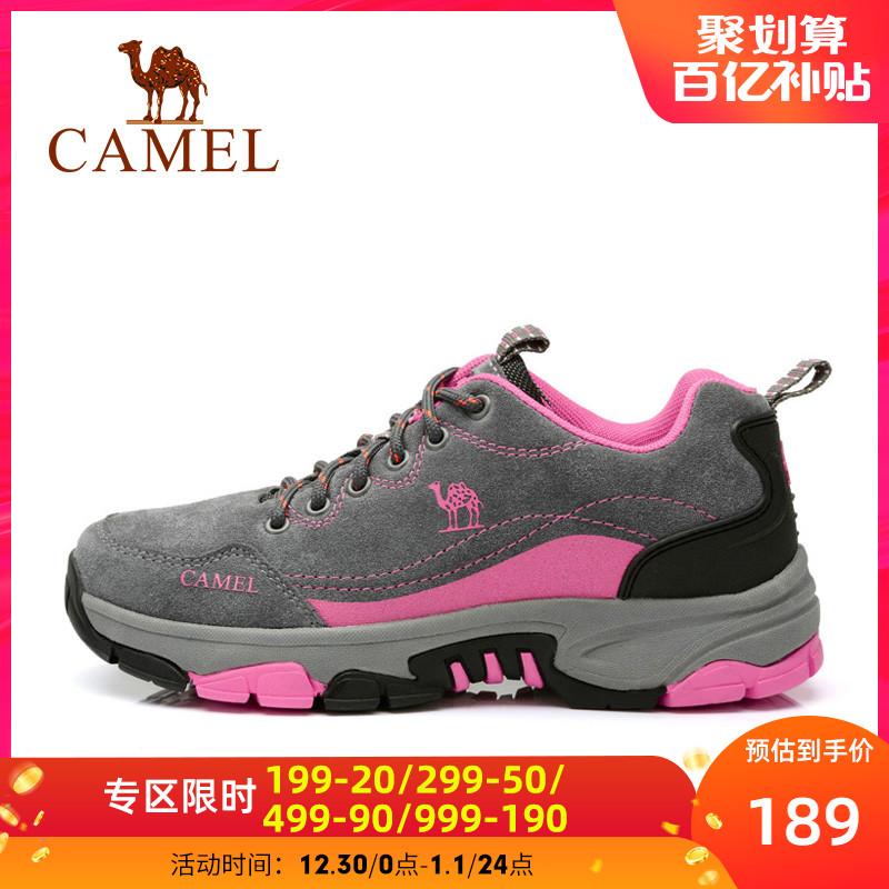 骆驼户外登山鞋男女秋季保暖防滑减震鞋耐磨低帮运动徒步鞋户外鞋