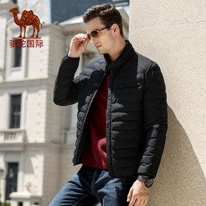 骆驼男装 2018秋冬新款青年时尚潮流轻薄立领休闲保暖棉服男外套