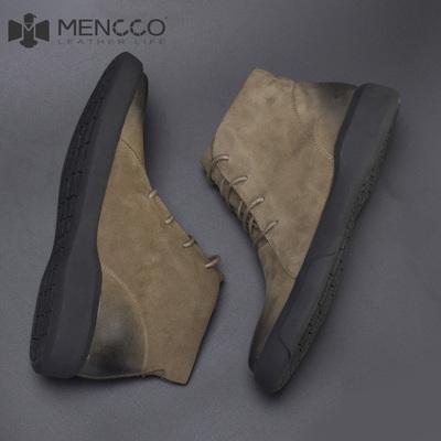 真皮男靴子男鞋冬季高帮皮靴马丁靴中帮雪地短靴潮鞋加绒保暖棉鞋