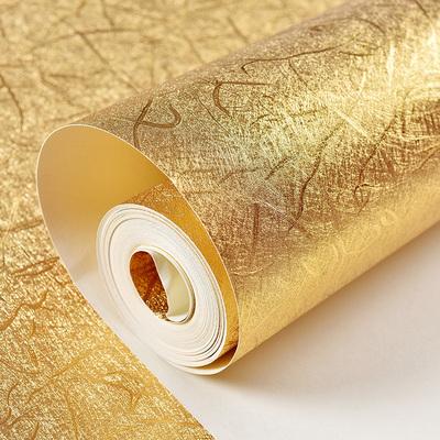 金箔壁纸金色酒吧ktv马赛克防水拉丝墙纸欧式客厅吊顶天花板壁纸