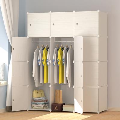 简易衣柜简约现代经济型组装橱柜双人柜子折叠组合大容量储物衣橱哪里购买