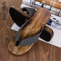 特价秒杀男士日式木屐拖鞋 时尚木板人字拖木屐鞋 钉扣木鞋人字男