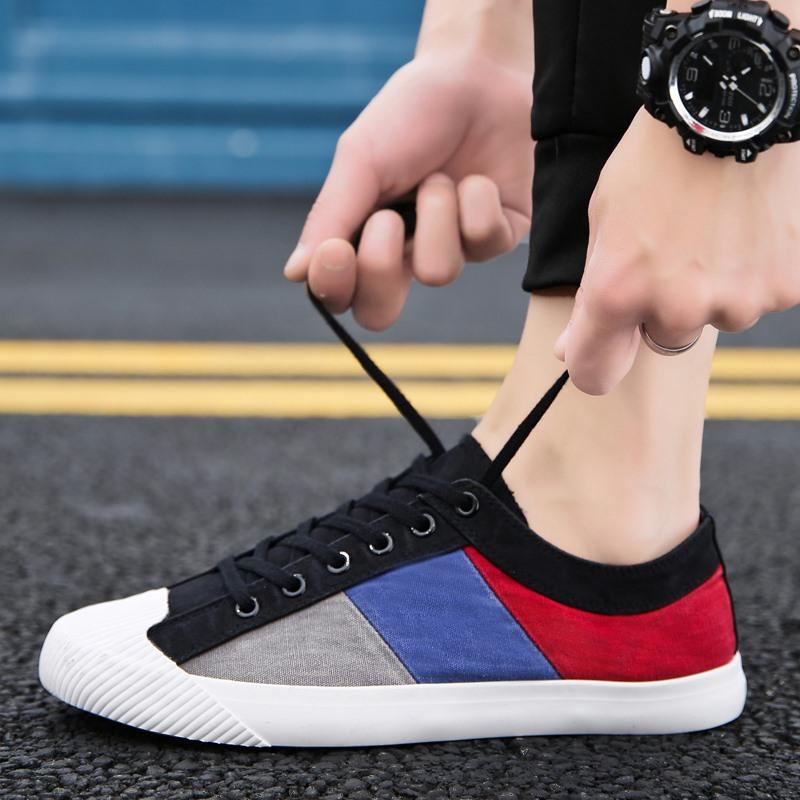 2019新款男鞋子时尚板鞋男士韩版潮鞋百搭网红平底防臭老北京布鞋