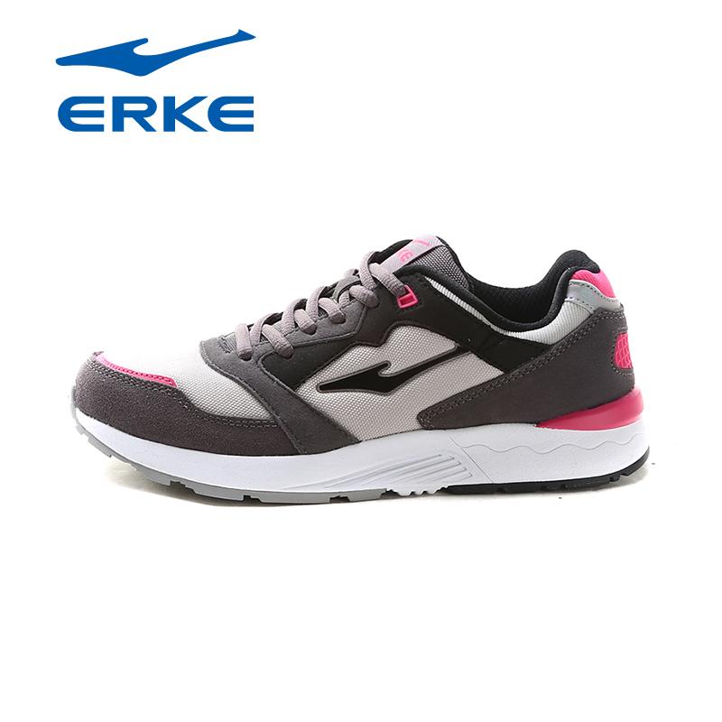 鸿星尔克女鞋秋季潮流复古鞋减震耐磨运动鞋女跑步时尚网布休闲鞋