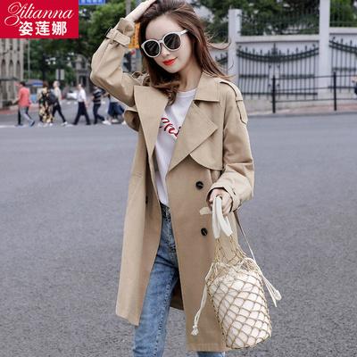 小个子风衣女中长款2019春季装新款韩版宽松气质流行春秋外套大码