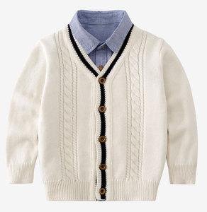 2018新款儿童秋冬男童开衫毛衣男孩毛线衣外套宝宝加厚针织衫童装