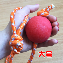 Dogs, dogs, molars, toys, balls, rubber balls, cords, rope, solid ball, Jin Mao De Mu training supplies.
