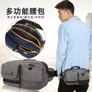 卡拉羊腰包多功能男包户外单肩包运动斜挎包休闲斜跨小包包旅游包