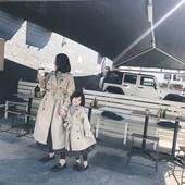 奶油cream 婴幼2018秋装新款儿童外套女童中长款风衣宝宝韩版大衣