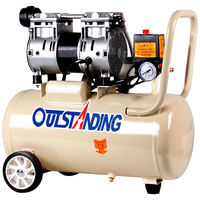 Otis white air compressor silent air pump small oil-free pump air compressor woodworking air compressor 220V