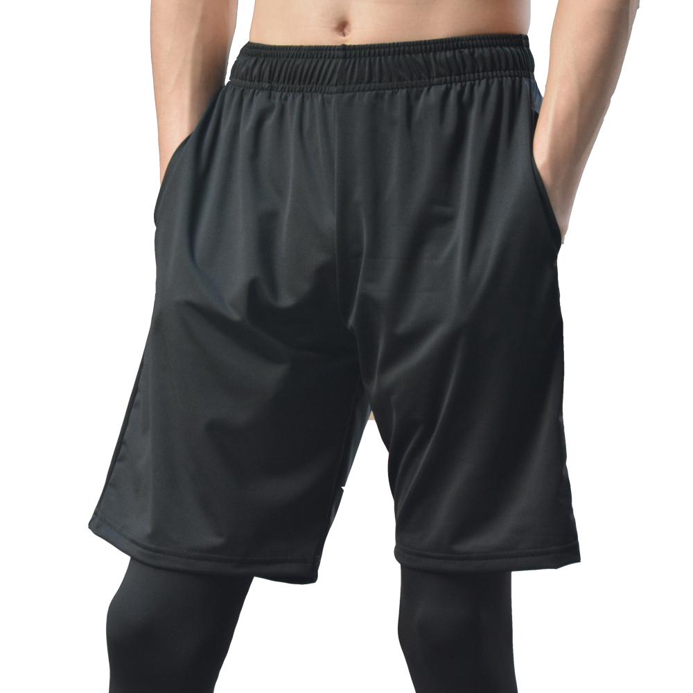 运动短裤 男 综合训练篮球马拉松跑步黑色健身裤 宽松外穿带口袋
