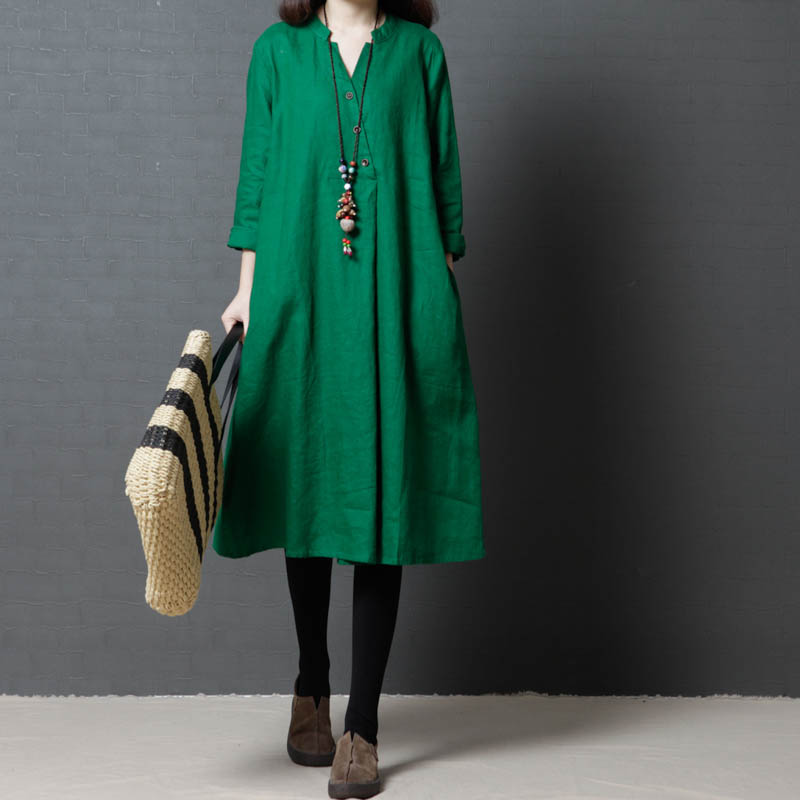 微胖女装胖mm Large size autumn Korean version of the literary loose thin long section long sleeve
