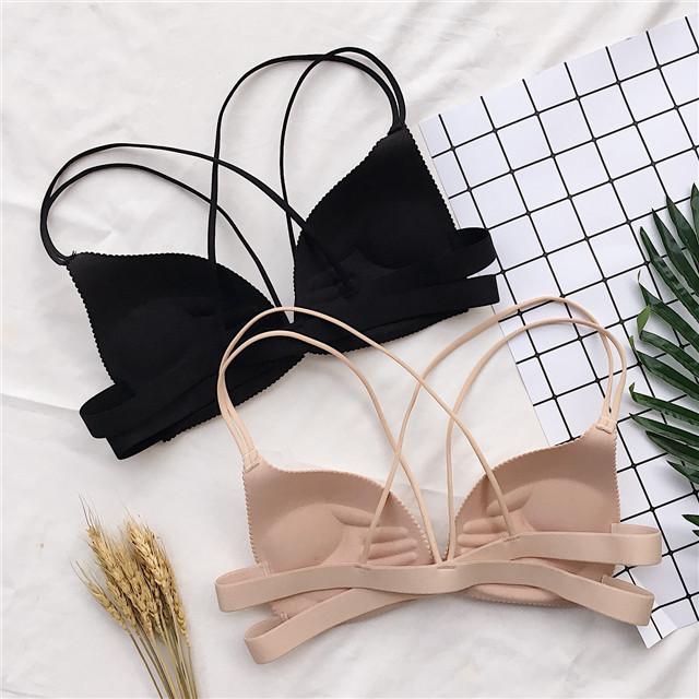 春季韩版性感女士美背吊带抹胸一片式双肩带裹胸聚拢胸罩文胸内衣