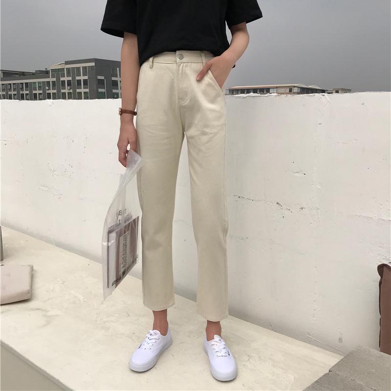 九分牛仔裤女简约