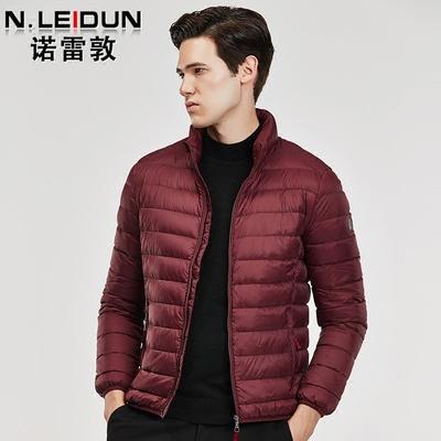 诺雷敦2018新款冬季青年轻薄短款羽绒服男士潮版潮流休闲保暖外套