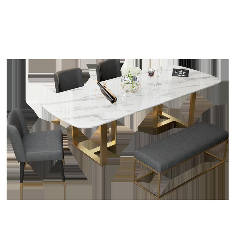 北欧大理石餐桌椅组合现代简约小户型家用饭桌设计师桌子轻奢餐桌