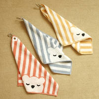 Cotton double-faced terry square towel towel face towel family group lanyard cartoon stripe T