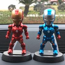 钢铁侠美国队长汽车摆件太阳能创意车内用饰品可爱摇头公仔娃娃