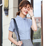 Summer professional dress women's suit fashion temperament business dress interview is dressed short-sleeved shirt work clothes women