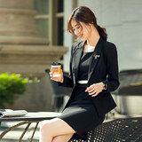 Career suits ladies small fragrant wind female presenters dress 2019 new female beautician overalls suit jacket