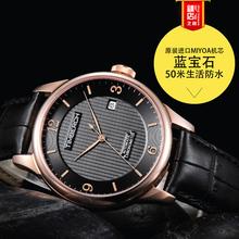 天鉑時正品進口機芯商務男士腕表精鋼防水手表男式皮帶休閑機械表