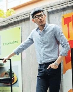 韩版东大门代购潮男修身紧身纯色衬衫长袖UTBL01400101包邮