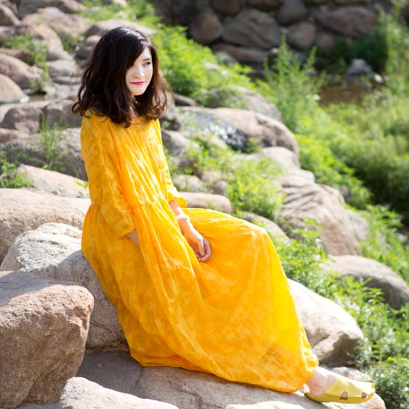 品质印花连衣裙