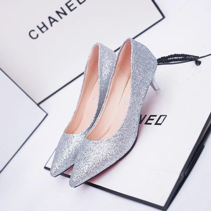 女鞋单鞋高跟5厘米