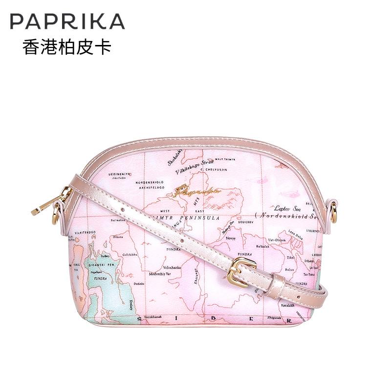 香港地图包单肩包
