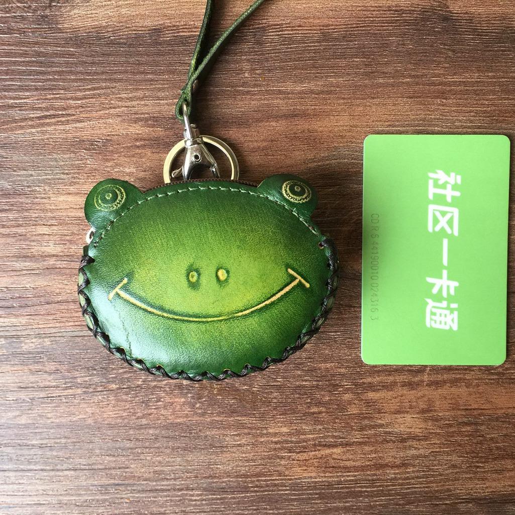 手工零钱包真皮硬币包创意牛皮卡通小钱包动物小包包钥匙挂件包邮
