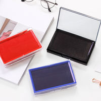 Effective India red blue black fast dry ink printing box quick-drying large seal Indonesian official seal atomic ink set portable small fingerprint printing sponge core 9864 office financial supplies