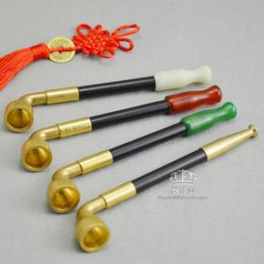 老式烟袋锅旱烟袋锅子 实木烟杆 加长大烟袋 传统中国烟斗烟具