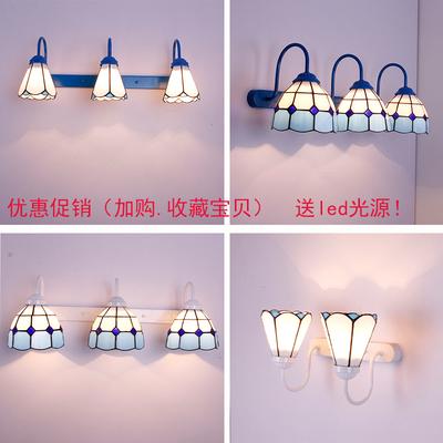 地中海风格镜前灯卫生间洗手间灯饰美式田园蒂凡尼浴室柜led灯具
