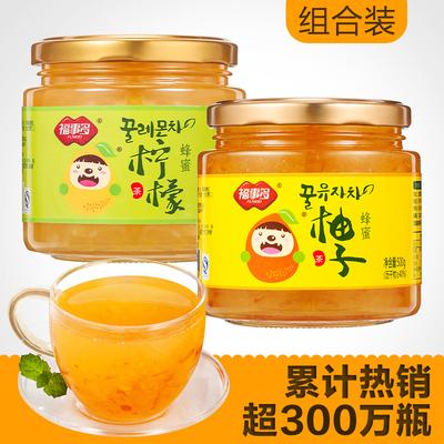 福事多蜂蜜柚子柠檬茶1Kg热饮泡水喝的饮品 冲饮冲泡水果茶花茶酱