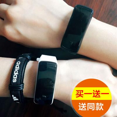 韩版简约时尚LED手表男潮流运动防水电子表女学生手环情侣表一对双十一折扣