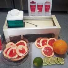 手动柠檬机西柚橙子水果切片机奶茶店商用柠檬可调厚度切片机