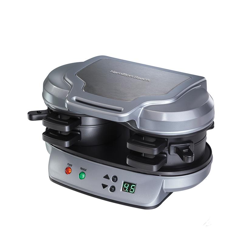 汉美驰 家用早餐机汉堡机多功能三明治机电饼铛三文治机25490-CN