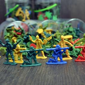 儿童二战小兵人士兵玩具模型套装 塑料军事打仗小人武器沙盘场景