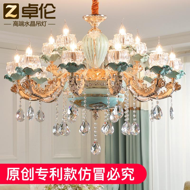 水晶灯 复式客厅灯