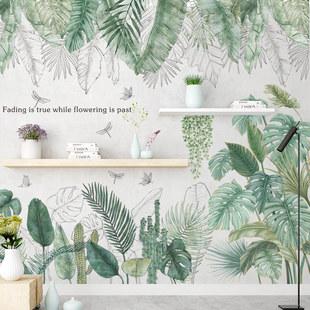 墙贴热带叶子北欧清新客厅卧室宿舍ins贴纸房门植物花卉墙壁装饰