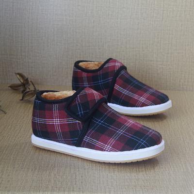 秋冬季保暖高帮鞋女加绒平底鞋女鞋防滑鞋毛毛鞋老北京棉鞋学生冬
