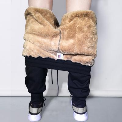 2017新款冬季男士运动休闲加绒加厚韩版潮流外穿秋冬款宽松冬裤子