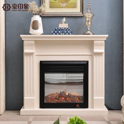 豪印象 新品1.2米美式实木电视柜简约电壁炉可取暖客厅欧式白色柜