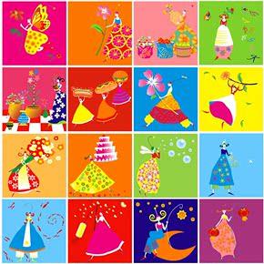 幼儿园学校装饰画现代卧室无框画儿童房壁挂画小仙子卡通动漫墙画